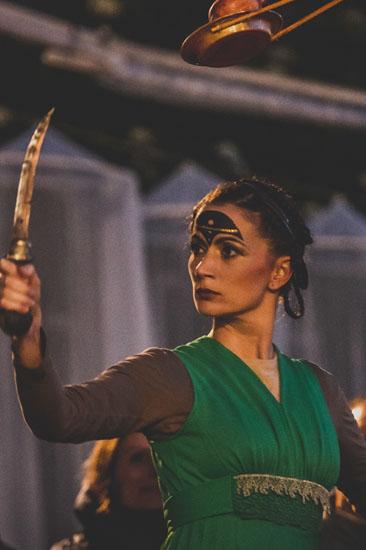 Jessica Hellmann als Theodora in Sheherazade von Theater Anu